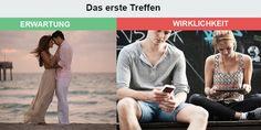 Beziehungen: Erwartungen und Realität #likeblog #gutscheinlike #lustig #bilder #erwartungen #realität