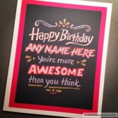 Friends Happy Birthday Wish Cards With Name