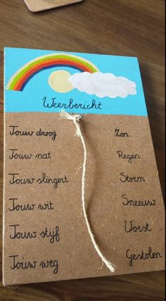 Grappige weerberichtmeter voor vader. Met dank aan Jorien! Homemade Gifts, Diy Gifts, Diy For Kids, Crafts For Kids, Cadeau Surprise, Mother And Father, Art School, Kids And Parenting, Diy Art