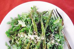Recipes: Arugula Salad with Roasted Asparagus. (Follow our other boards for detox, fitness, yoga and green living tips: pinterest.com/gaiam)