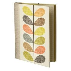 Multi Scribble Stem Print Large Case Bound Notebook Multi