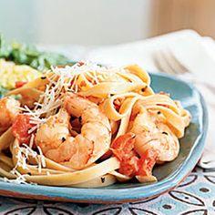 Top-Rated Shrimp Recipes | Spicy Shrimp and Fettuccine | CookingLight.com