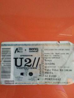 Ingresso do U2 Vertigo Tour SP