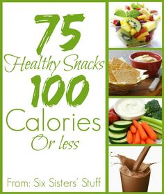 75 healthy snacks 100 calories or less more no calorie snacks, low calorie Healthy Treats, Healthy Habits, Healthy Tips, Healthy Recipes, Healthy Desserts, Healthy Breakfasts, Healthy Foods, Diabetic Snacks, Diet Recipes