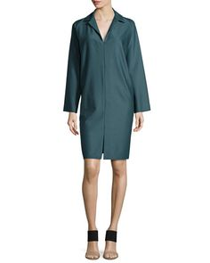 B30F1 Shamask Long-Sleeve Shirtdress, Forest