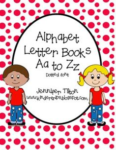 FREE! There are 26 books, one for each letter of the alphabet. They are ready to be copied, cut in half and stapled together (6 pages per book).  T