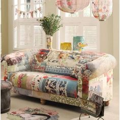 CosyNest Interiors Nurture Daydream Patchwork Canvas Sofa **this sofa is an amazing work of art!**