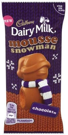 Cadbury Dairy Milk Mousse Snowman – The Wee British Shoppe British Store, Cadbury Dairy Milk, Cadbury Chocolate, Store Online, Mousse, Snowman, Snack Recipes, Chips, Food