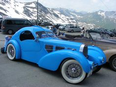 Bugatti-Meeting in St. Moritz, Switzerland. cars…
