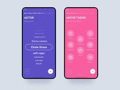 Movie app onboarding by Johny vino™ on Dribbble Web Design, App Ui Design, Interface Design, Class Design, Dashboard Design, User Interface, Survey Design, Motion App, Card Ui