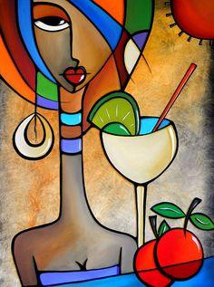 Art 'Cubist 121 3040 W Original Cubist Art Solace' - by Thomas C. Fedro from Cubist Tableau Pop Art, Pop Art Collage, Cubist Art, Cubist Paintings, Floral Paintings, Simple Acrylic Paintings, Modern Art Paintings, Art Moderne, African Art