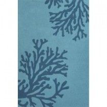 Jaipur Indoor/Outdoor Coastal Pattern Blue Polypropylene Area Rug (2x3)