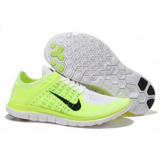 watch 1d331 03d8c Nike-Free-4.0-Flyknit-Women s-Running-Shoe-White-Black-Fluorescent-Yellow- Blue
