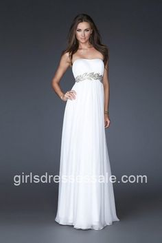 Graceful Strapless La Femme 15986 White Homecoming Gown For Lady [White Homecoming Dresses] - $166.00 : Cheap Dresses for Girls