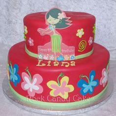 Hula Party  Cake by RockCandyCakes