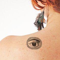 Eye Temporary tattoo Set of 2 van TTTattoodotcom op Etsy All Seeing Eye, Tattoo Set, Temporary Tattoo, Third Eye, Sensitive Skin, Piercings, Cuff Bracelets, Make Up, How To Apply