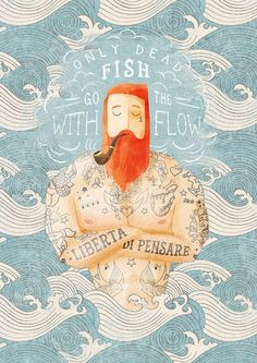 Sailor Art Print by Seaside Spirit. love the style and colours