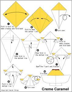 Origami Creme Caramel