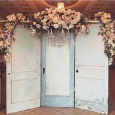 Cheap wedding decorations don't ambition that you have to sacrifice your wedding aesthetic. We've got wealth ideas for cheap wedding decorations that yet look. -- Understand more info by clicking the link on the image. Wedding Doors, Wedding Arch Rustic, Wedding Ceremony Backdrop, Farm Wedding, Wedding Church, Decor Wedding, Wedding Ideas, Wedding Backdrops, Rustic Wedding Backdrop Reception