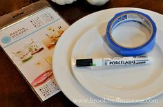 DIY Dinnerware (you could design your own reception 'china' with cheaper plain white plates).