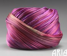 "SHIBORI SILK RIBBON: 4"" Pleated to 1"" Wide Silk Satin Bias Cut Hand Dyed Silk Ribbon by Shibori Girl Studios (1 Yard)"