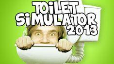Pewdiepie playing Toilet Simulator 2013,Robot Vacuum Simulator and Curtain Simulator 2013