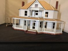 O Gauge Custom Lasercut Farmhouse KIT image 1 Dog Houses, Play Houses, Porch Addition, Model Train Layouts, Miniature Houses, Models, Kit Homes, Craft Stick Crafts, Model Homes