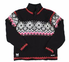 Dale Of Norway Womens Windstopper Black Red Snowflake Nordic Sweater size Small #DaleOfNorway #TurtleneckMock #nordic #European #style #fashion #sweater #winter #fall