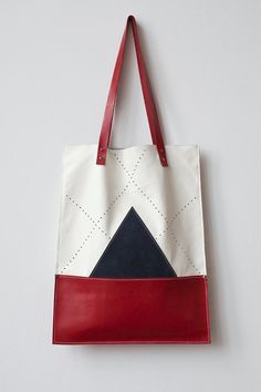 APRIL SALE Nautical Leather Tote bag via Etsy.