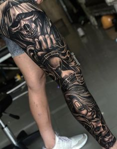 55 Male Leg Tattoo Ideas - Images and Tattoos - 55 Ma .- 55 Male Leg Tattoo Ideas – Bilder und Tätowierungen – 55 Male Leg Tattoo Ideas… 55 Male Leg Tattoo Ideas – Images and Tattoos – 55 Male Leg Tattoo Ideas – Images and Tattoos – - Hand Tattoos, Full Leg Tattoos, Skull Sleeve Tattoos, Forarm Tattoos, Chicano Tattoos, Arm Sleeve Tattoos, Forearm Tattoo Men, Tattoo Sleeve Designs, Body Art Tattoos