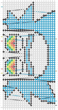 Alpha friendship bracelet pattern added by tonyasties. rick morty funny c… – sleepydady String Bracelet Patterns, Diy Bracelets With String, Yarn Bracelets, Diy Bracelets Easy, Bracelet Crafts, Peyote Bracelet, Diy Friendship Bracelets Patterns, Alpha Patterns, Macrame Patterns