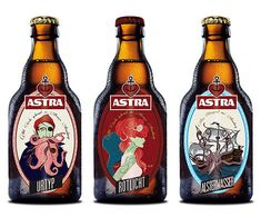 Astra Beer Bottles.  Wow!  Didn't see any of these while living in Germany.  We drank Astra on tap.  Still have an Astra mug.