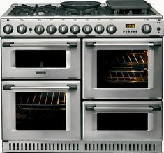 Buy Hotpoint Professional Gas Range Cooker - Stainless Steel from Appliances Direct - the UK's leading online appliance specialist Range Cooker Kitchen, Kitchen Stove, Kitchen Pantry, New Kitchen, Kitchen Dining, Kitchen Decor, Kitchen Cabinets, Kitchen Appliances, Kitchen Ideas