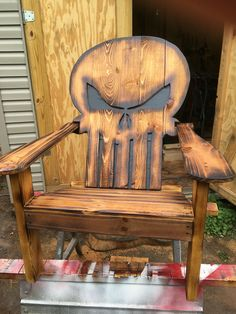 Wood punisher chair