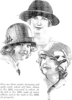 1925 how to make hats for the schoolgirl