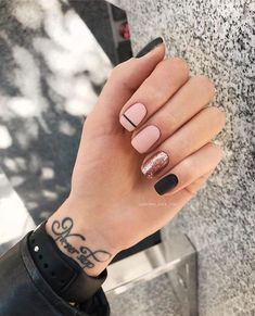 40 trendy stunning manicure ideas for short acrylic nails design 25 - . 40 trendy stunning manicure ideas for short acrylic nails design 25 - Cute Acrylic Nails, Cute Nails, Gel Nails, Nail Polish, Nail Nail, Black Nail Designs, Acrylic Nail Designs, Shellac Nail Designs, Short Nail Designs