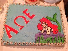 Alpha omega epsilon Disney cake