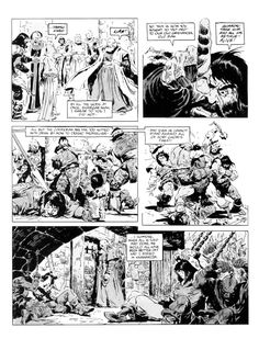 Remembering John Buscema, he passed away 10 years ago last January. He was a legendary comic-book artist of the highest caliber and one of. Comic Book Pages, Comic Book Artists, Comic Books, Comic Frame, John Buscema, Black And White Artwork, Conan The Barbarian, Sword And Sorcery, Silver Surfer