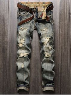 GET $50 NOW | Join RoseGal: Get YOUR $50 NOW!http://m.rosegal.com/mens-pants/frayed-zipper-fly-straight-leg-766924.html?seid=6855300rg766924