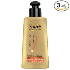 Suave Professionals Heat Defense Conditioner, Keratin Infusion 5.1 oz (Pack of 3)