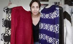 Wonderful collection of Sarah Lund's sweaters, made with wool from the Faroe Islands.