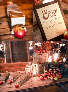 Apples for a fall wedding