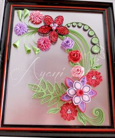 Ayani art: Quilling in bright colors