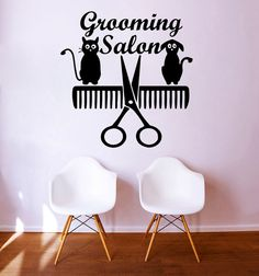 Wall Decals Quote Grooming Salon Decal Dog Scissors Comb Cat Vinyl Sticker Pet-Shop Grooming Salon Home Decor Art Mural Dear Buyers, Welcome to our