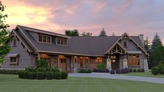 The best Craftsman house floor plans. Find 1 story Craftsman cottage style designs, modern Craftsman homes w/photos & more! Style At Home, Mountain House Plans, Mountain Cottage, Craftsman Style House Plans, Craftsman Homes, Craftsman Trim, Modern Farmhouse Plans, House Floor Plans, My Dream Home