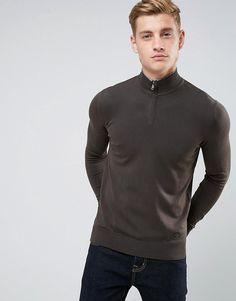 Armani Jeans Half Zip Logo Sweater Dark Green by Armani Jeans http://ift.tt/2CCiXkj