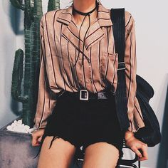 summer outfit | summer style | striped shirt | #ootd