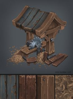 This is the mini lumbermill, it is a part of an environment that i'm doing! If you like it ,check out the thread http://www.polycount.com/forum/showthread.php?t=157149