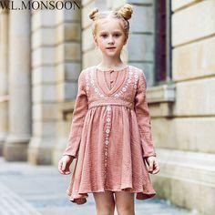 d8bd355b1fb girls autumn dress Picture - More Detailed Picture about W.L.MONSOON Girls  Autumn Dress Children 2017 Brand Princess Dress with Flower Embroidery  Vestidos ...
