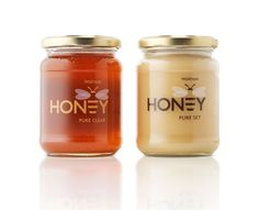 Honey jar labels with a clear material...